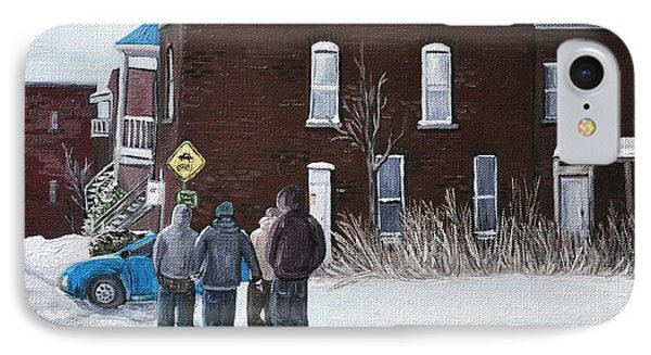 A Winter Walk In Montreal Phone Case by Reb Frost