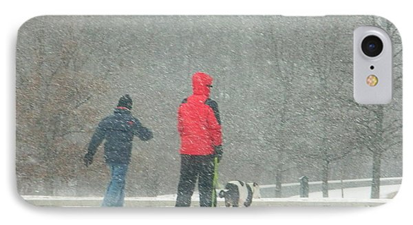 A Winter Walk In The Park - Silver Spring Md Phone Case by Emmy Marie Vickers