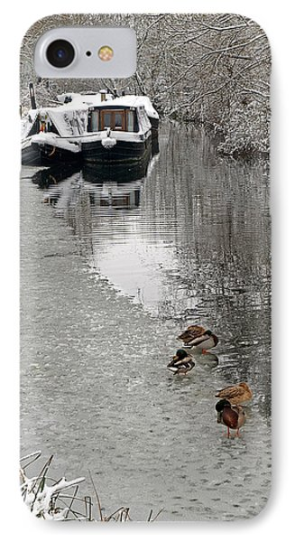 A Winters Day On The River IPhone Case by Gill Billington