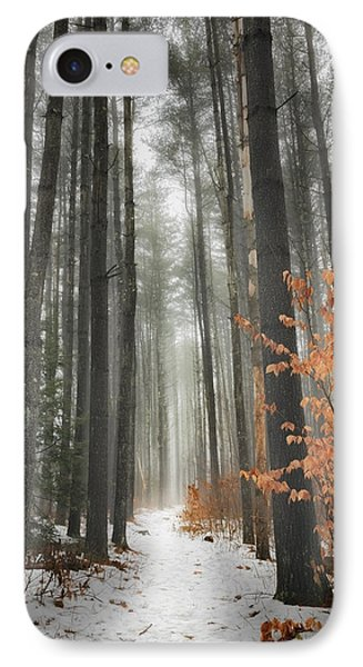 A Winters Path Phone Case by Bill Wakeley