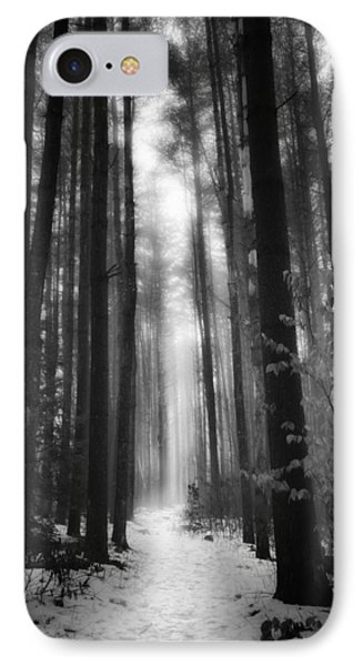 A Winters Path Black And White IPhone Case