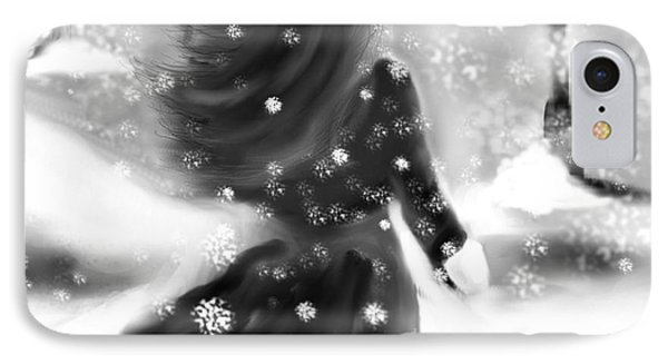 IPhone Case featuring the drawing A Winters Walk by Lori  Lovetere