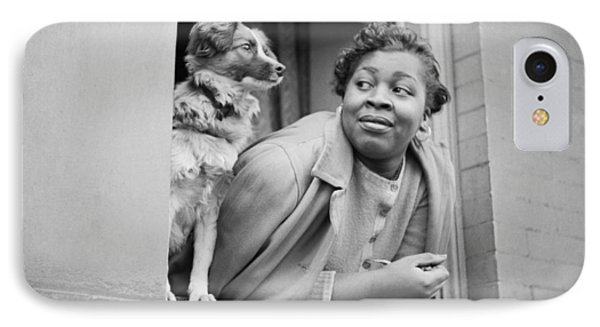 Harlem iPhone 7 Case - A Woman And Her Dog by Gordon Parks