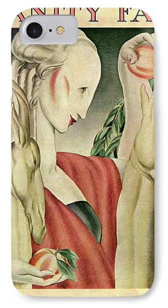 A Woman Feeding Apples To A Deer IPhone Case by Jr., J. Franklin Whitman