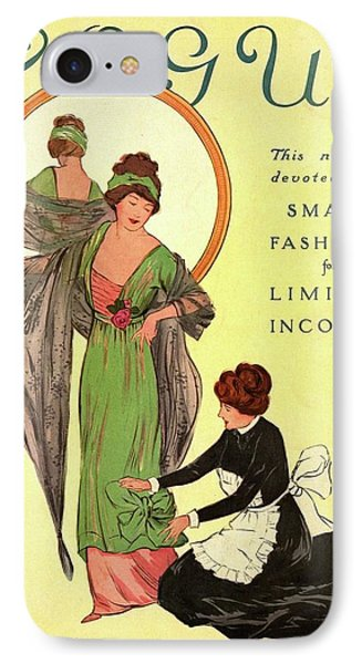 A Woman Modeling And A Maid Assisting IPhone Case by Helen Dryden