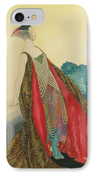 A Woman On A Balcony IPhone Case by George Wolfe Plank