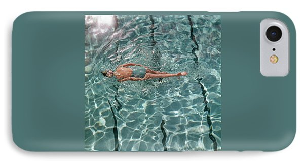A Woman Swimming In A Pool IPhone Case