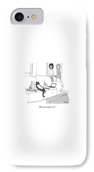 Potato iPhone 7 Case - He's An Indoor Cat by Charlie Hankin