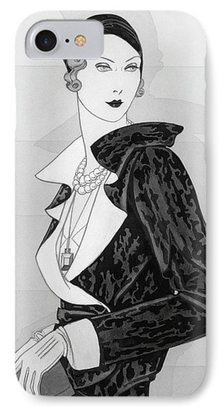 A Woman Wearing A Cap By Marie-alphonsine IPhone Case by Douglas Pollard