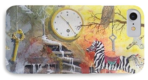 IPhone Case featuring the painting A Wonderland Scene by Jackie Mueller-Jones