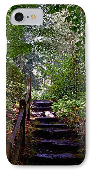 IPhone Case featuring the photograph A Wooded Path by Anthony Baatz