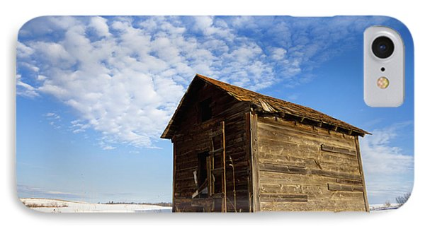 A Wooden Shed Stands Alone Phone Case by Steve Nagy