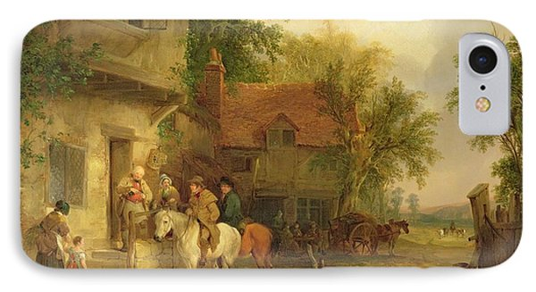 A Woodside Inn, 1841 Phone Case by William Snr. Shayer
