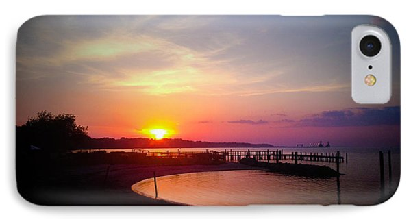 A Yorktown Sunset IPhone Case by Linda Mesibov