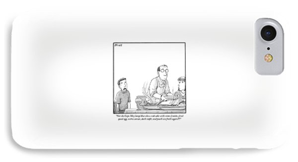 A Young Boy Complains About What's For Dinner IPhone Case by Harry Bliss