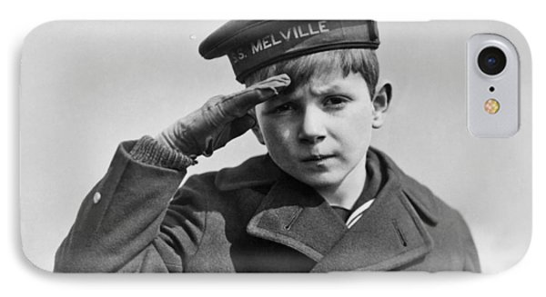 A Young Boy Saluting IPhone Case