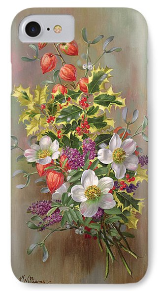 A Yuletide Posy IPhone Case by Albert Williams