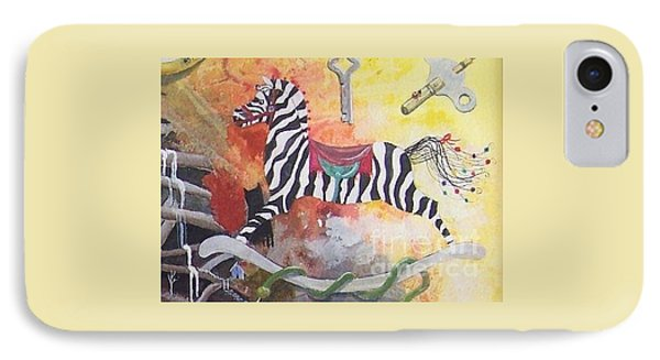 IPhone Case featuring the painting A Zebra For Charlie by Jackie Mueller-Jones