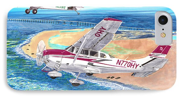 Cessna 206 And A1a Husky IPhone Case by Jack Pumphrey
