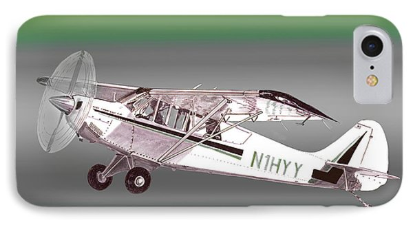 A1a Husky Aviat Airplane IPhone Case by Jack Pumphrey