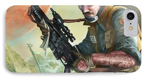 A280 Blaster Rifle  IPhone Case by Ryan Barger