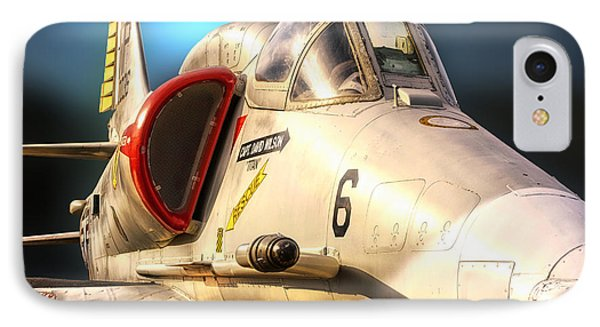 A4 Skyhawk Attack Jet IPhone Case by Thomas Woolworth