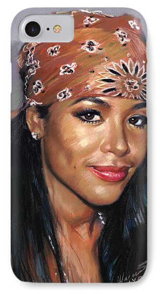 IPhone Case featuring the drawing Aaliyah by Viola El