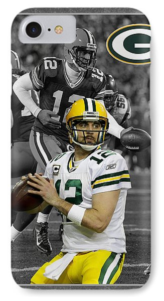 Aaron Rodgers Packers Phone Case by Joe Hamilton