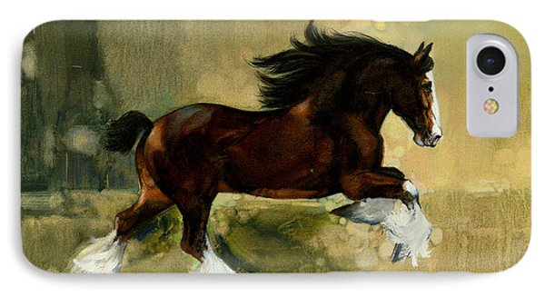 Clydesdale Stallion IPhone Case by Don  Langeneckert
