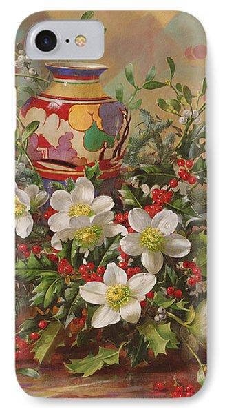 Winter Flowers IPhone Case by Albert Williams