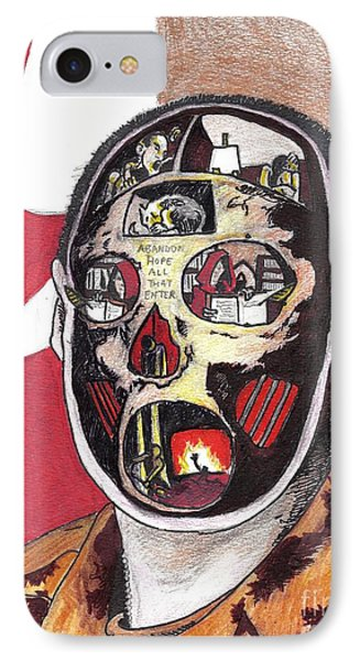 Abandon Hope All That Enter Phone Case by Kevin Sweeney