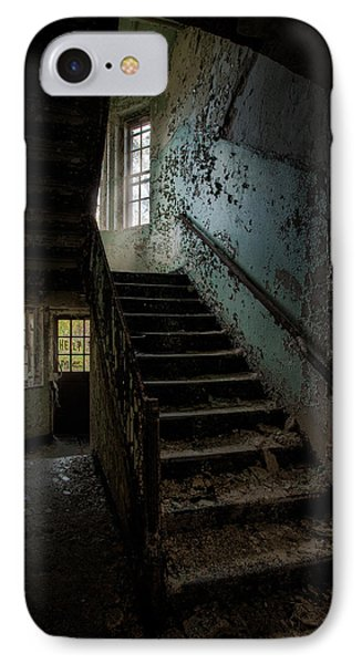 Abandoned Building - Haunting Images - Stairwell In Building 138 Phone Case by Gary Heller