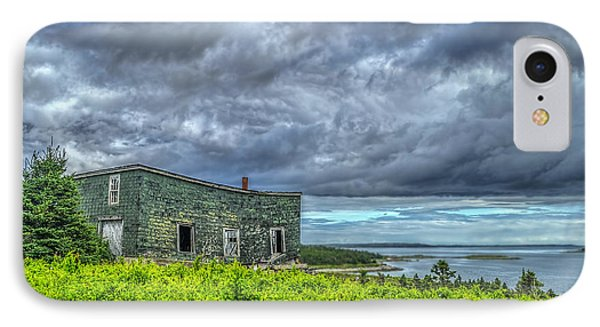 Abandoned Building In Goldboro IPhone Case by Ken Morris