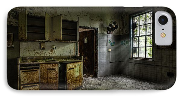 Abandoned Building - Old Asylum - Open Cabinet Doors IPhone Case by Gary Heller