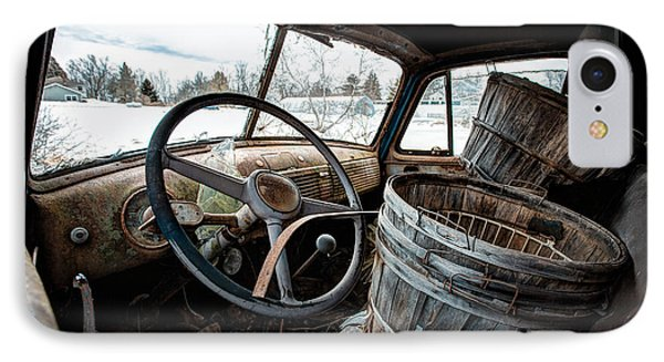IPhone Case featuring the photograph Abandoned Chevrolet Truck - Inside Out by Gary Heller