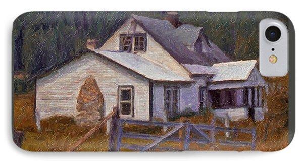 Abandoned Farm House IPhone Case by Richard Farrington
