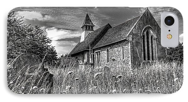 Abandoned Graveyard In Black And White IPhone Case