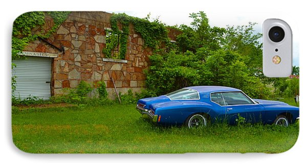 IPhone Case featuring the photograph Abandoned Gym And Car by Utopia Concepts