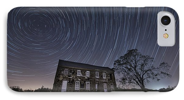 Abandoned History Star Trails Phone Case by Michael Ver Sprill