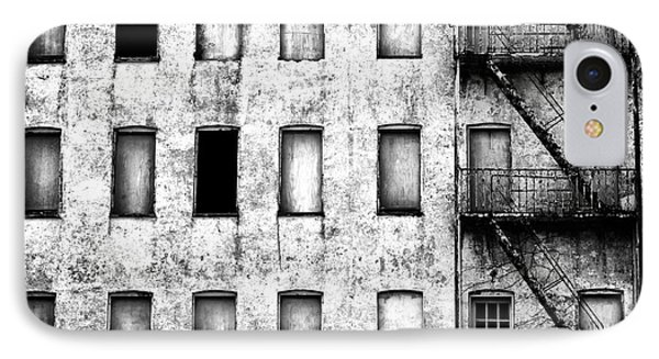 Abandoned In Asbury Park Bw IPhone Case by John Rizzuto
