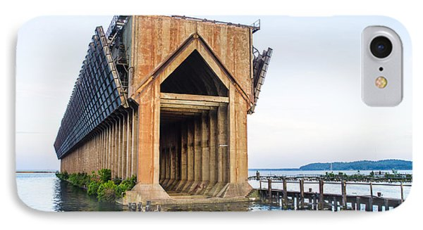 Abandoned Ore Dock Marquette Michigan IPhone Case by Deborah Smolinske