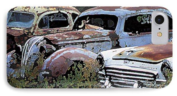 Abandoned Row IPhone Case by Richard Farrington