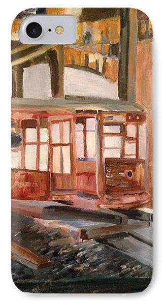 Abandoned Streetcar In Savannah Phone Case by Christina Campo-Abdoun