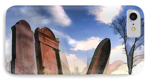 Abandoned Tombstones On The Prairie IPhone Case