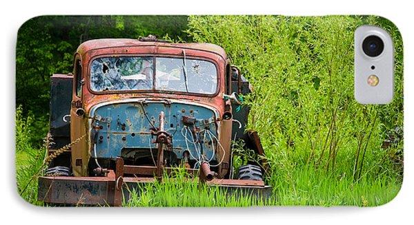 Abandoned Truck In Rural Michigan Phone Case by Adam Romanowicz