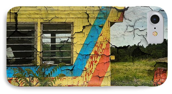Abandoned Yellow Trailer Phone Case by Amy Cicconi
