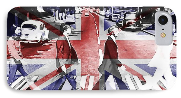 Abbey Road Union Jack IPhone Case by Dan Sproul
