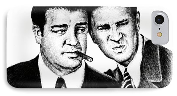 Abbott And Costello IPhone Case by Andrew Read