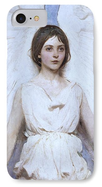 Abbott Handerson Thayer Angel 1886 IPhone Case by Movie Poster Prints