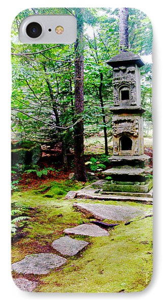 IPhone Case featuring the photograph Abby Aldrich Rockefeller Garden Path And Statuary by Lizi Beard-Ward